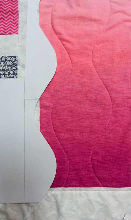 marking curvy quilting lines