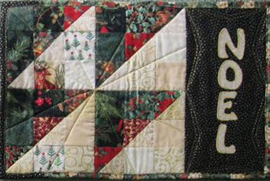 quilted Christmas placemat